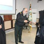 مراسم تکریم از کارکنان نسوان فرماندهی انتظامی غرب استان تهران،برگزار گردید.