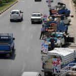 ساماندهی وانت بارهای دست فروش در معابر شهریار