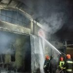 آتشسوزی گسترده در کارگاه تولید رنگ در شهر قدس