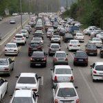 جاده های شلوغ و مردم بی توجه به ممنوعیت ها